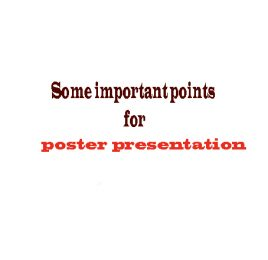 Writing & presentation poster instructions